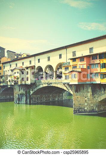 Old bridge in Florence - csp25965895