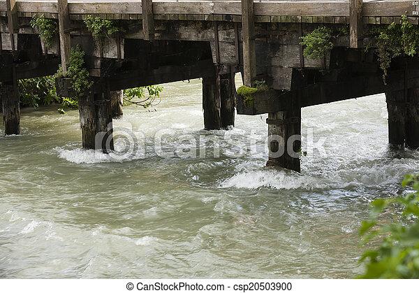 old bridge on river - csp20503900