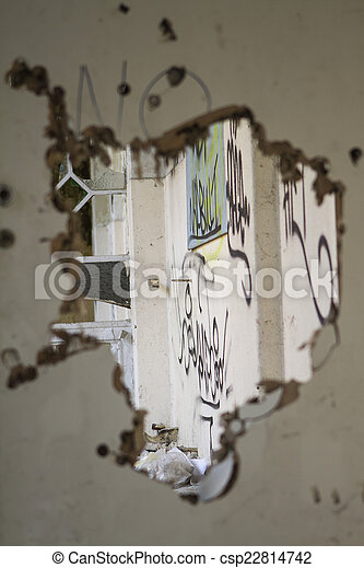 Old broken door - csp22814742 & Old broken door stock photo - Search Photographs and Clipart Photos ...