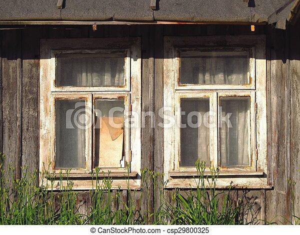 Old broken windows - csp29800325