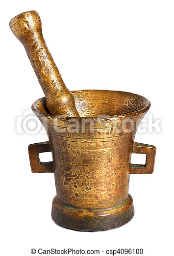 Old bronze mortar - csp4096100