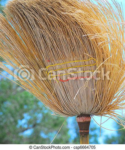 Old broom. - csp6664705