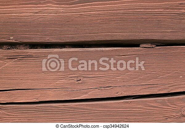 Old brown wooden texture background - csp34942624