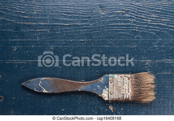 old brush on the table - csp16408168
