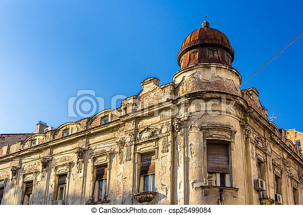 Old building in the city center of Belgrade - Serbia - csp25499084