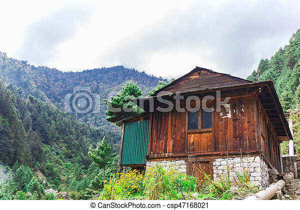 Old building in the mountains of Nepal