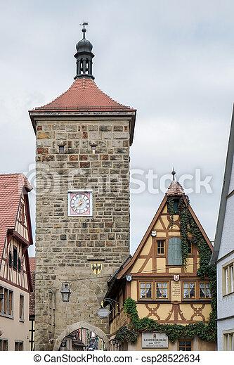 Old buildings in Rothenburg - csp28522634