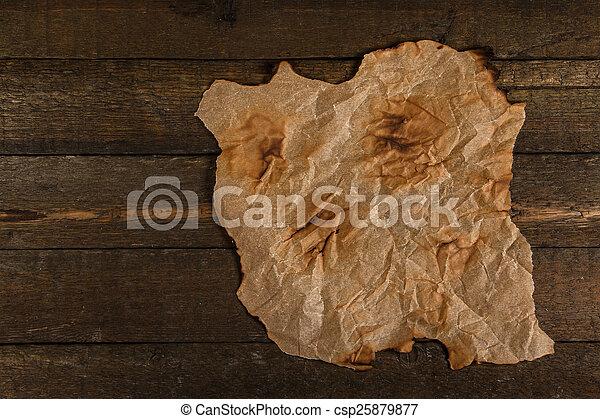 Old burnt paper - csp25879877