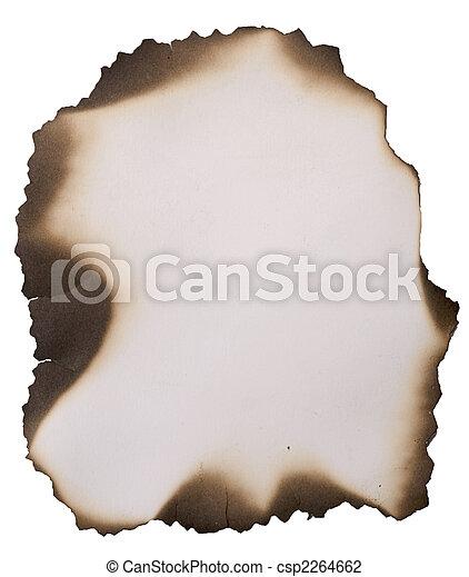 old burnt paper - csp2264662