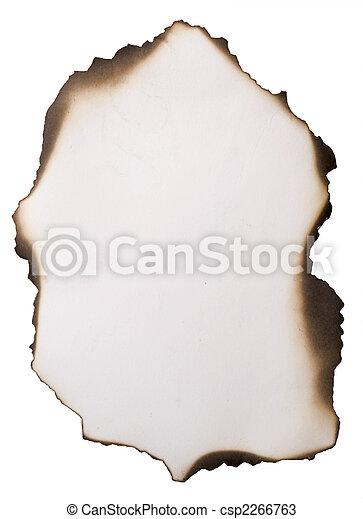 old burnt paper - csp2266763