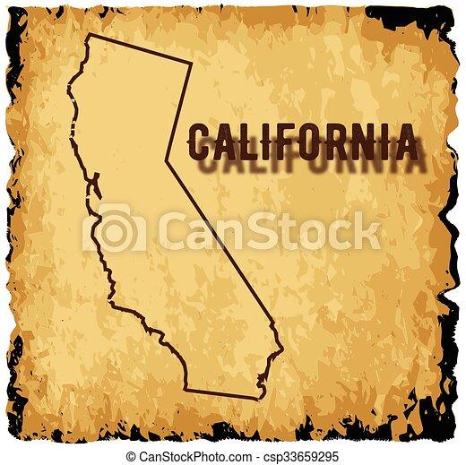 Old California Map - csp33659295