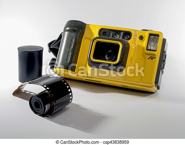 Old Camera on white background - csp43838959
