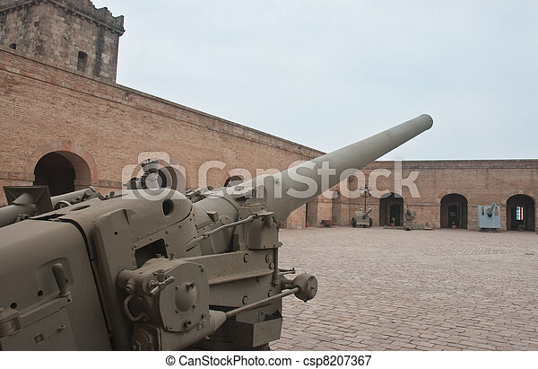 Old cannon in military museum - csp8207367