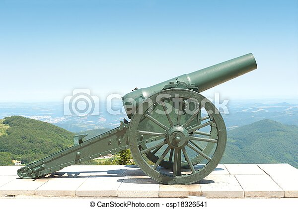 Old cannon - csp18326541