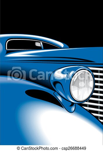 old car detail - csp26688449