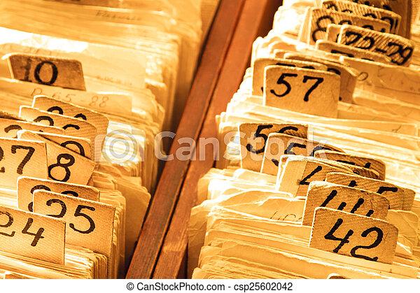 Old cards index catalog - csp25602042