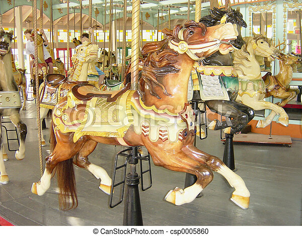 Old Carousel - csp0005860