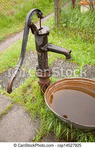 pump water Vintage iron cast