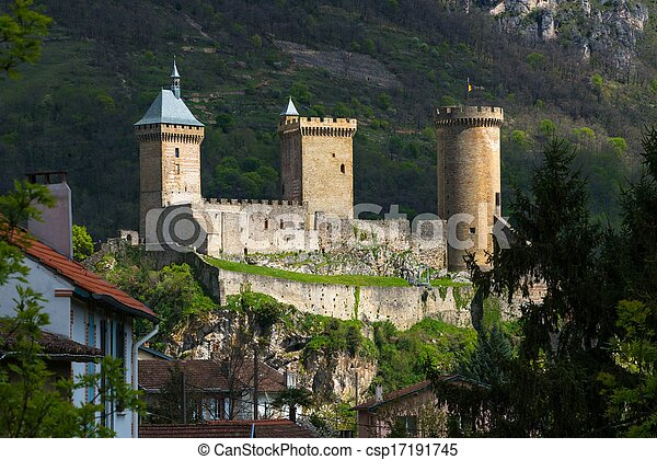 Old castle in Foix town in France  - csp17191745
