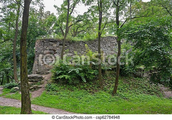 old castle in the Lviv park - csp62784948