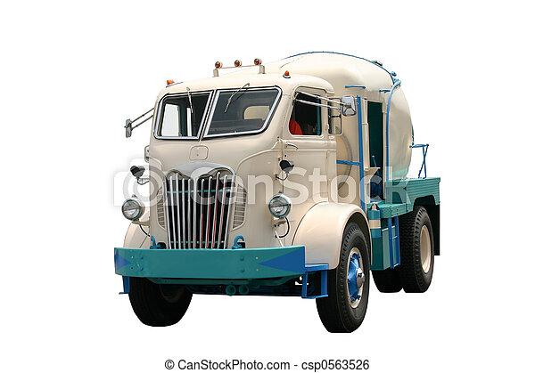 Old Cement Truck - csp0563526