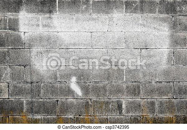 old cement wall with spraypaint worn out textured cement gray wall