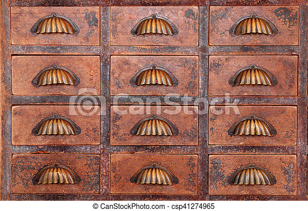 Old Chinese Medicine Cabinet   Csp41274965