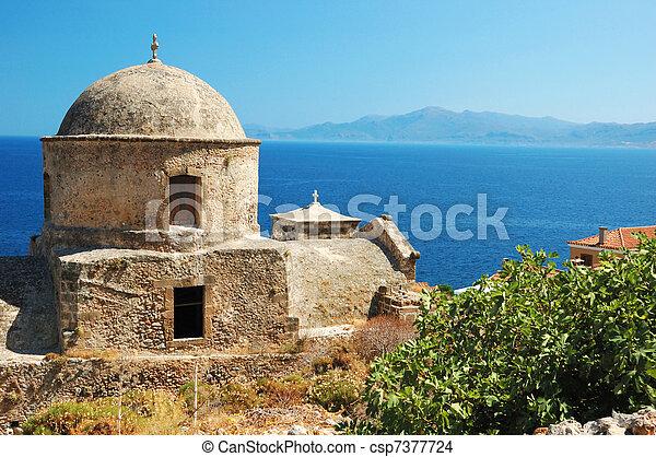 Old church of Monemvasia town, Greec - csp7377724