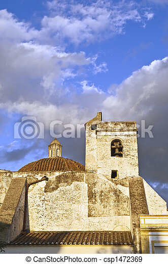 Old church tower - csp1472369
