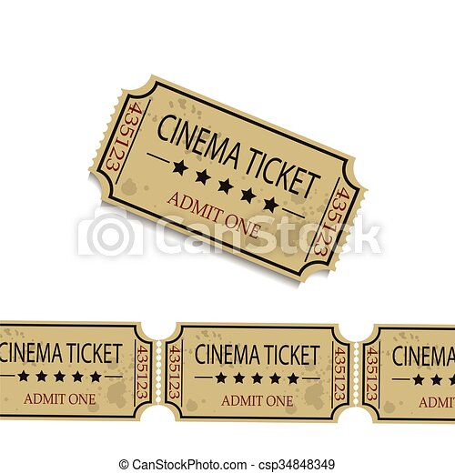Old cinema tickets  - csp34848349