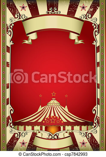 Old Circus Vector & Old circus. A grunge vintage poster with a circus tent vectors ...