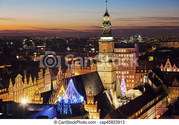 Old City Hall on Market Square in Wroclaw - csp45823913