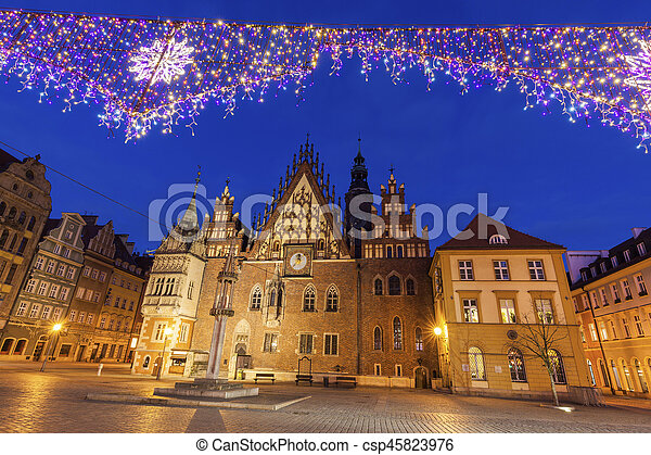 Old City Hall on Market Square in Wroclaw - csp45823976