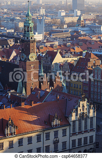 Old City Hall on Market Square in Wroclaw - csp64658377