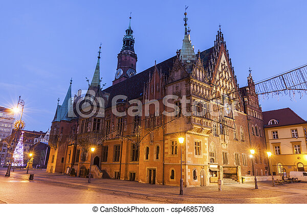 Old City Hall on Market Square in Wroclaw - csp46857063