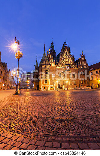 Old City Hall on Market Square in Wroclaw - csp45824146