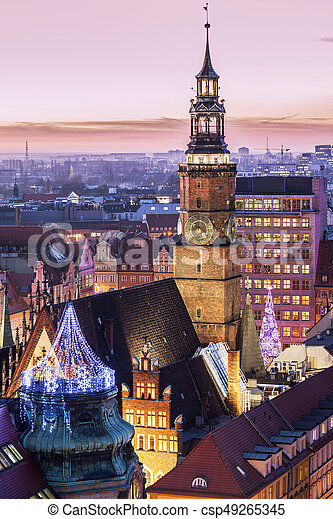 Old City Hall on Market Square in Wroclaw - csp49265345