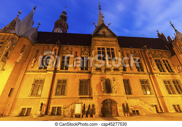 Old City Hall on Market Square in Wroclaw - csp45277530