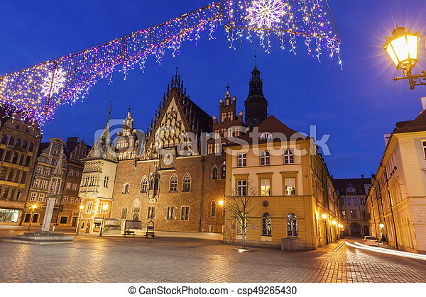 Old City Hall on Market Square in Wroclaw - csp49265430