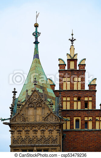 Old City Hall on Market Square in Wroclaw. Wroclaw, Lower Silesian, Poland. - csp53479236