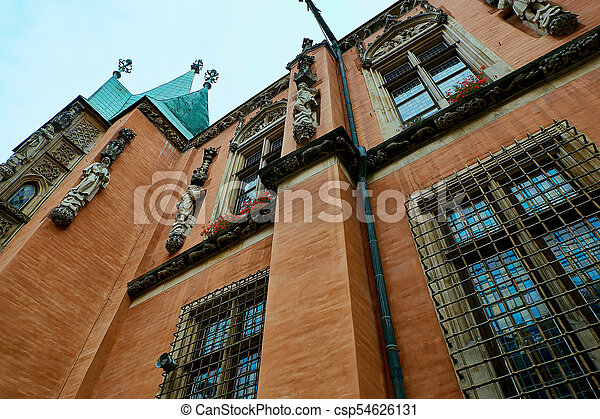 Old City Hall on Market Square in Wroclaw. Wroclaw, Lower Silesian, Poland. - csp54626131