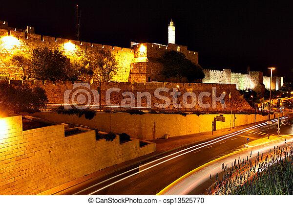 Old city in Jerusalem - csp13525770