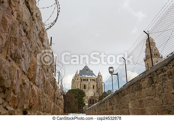 Old city in Jerusalem - csp24532878
