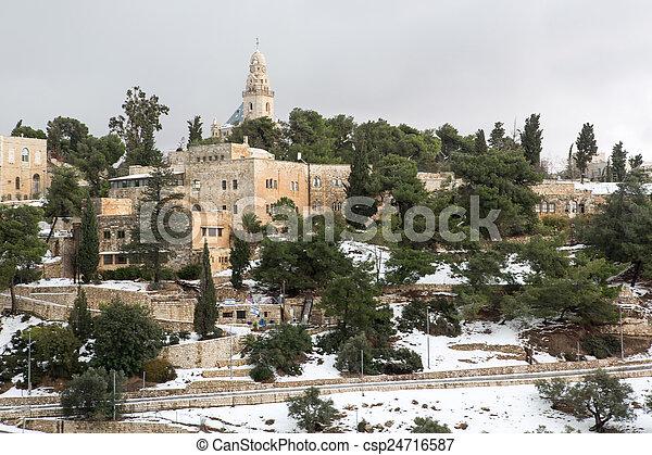 Old city in Jerusalem - csp24716587