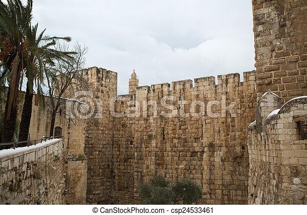 Old city in Jerusalem - csp24533461