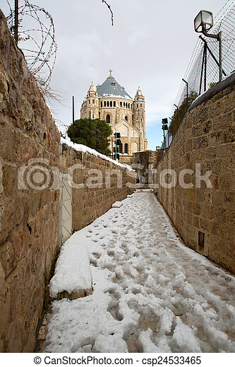 Old city in Jerusalem - csp24533465