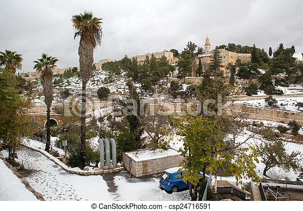 Old city in Jerusalem - csp24716591