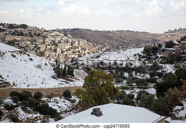 Old city in Jerusalem - csp24716593