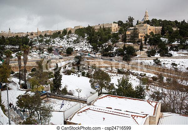 Old city in Jerusalem - csp24716599