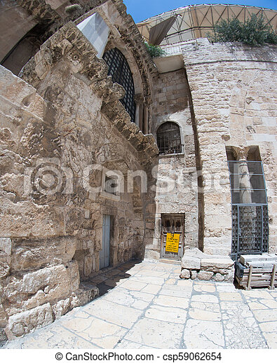 Old city jerusalem street in summer tourism vacation - csp59062654